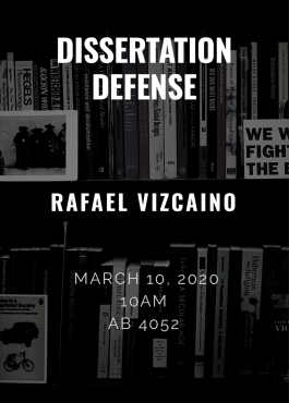 Vizcaino Dissertation Defense Flyer